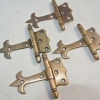 """4x small hinges vintage aged style solid Brass DOOR Stuning restore heavy 3"""" B"""