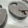 "2 Padlocks Vintage stye antique look solid heavy brass aged key lock works 3"" size 2 key"