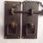 """Door box Latch catch solid brass furniture antiques bolt chain asian style 4"""""""