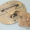 STUNNING large heavy HASP & STAPLE . Padlock and KEY included WORKS