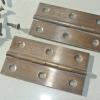 "2 small hinges vintage style solid Brass DOOR BOX 3"" restoration flush & screws"