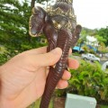 """elephant DOOR handle pull solid brass hollow old vintage style look 13"""" aged"""