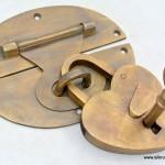 """blanket trunk box brass fittings Back plate lock & brass love heart pad lock 5"""""""