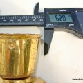"""big CUP solid Brass foot CASTOR wheel chairs tables antique style 4"""" high heavy"""