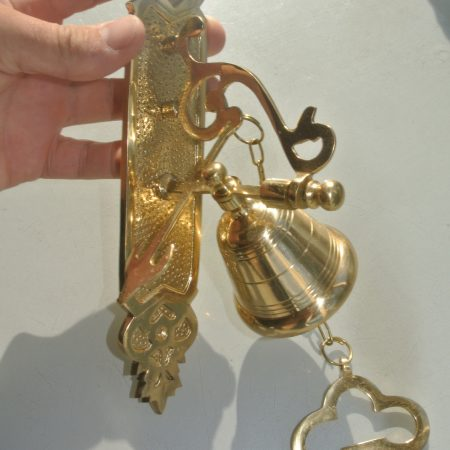 "BELL front door heavy Vintage style 10 ""size POLISHED solid brass aged Chain nice sound"