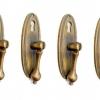 8 PULL handle KNOB aged old cast Brass PULL drop knob kitchen door 8 cm heavy 100% brass drop key hole pedestal