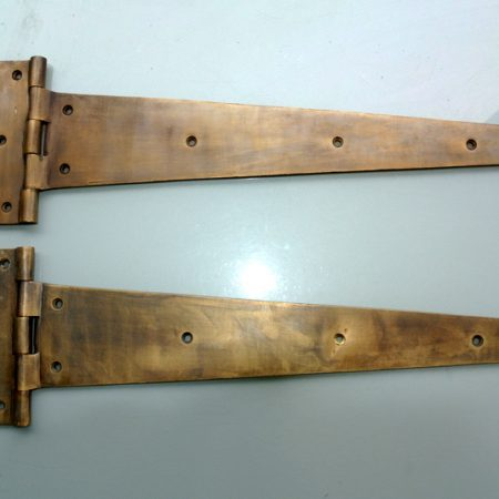 "18 "" Inch 2 pieces massive heavy Vintage CLASSIC Hinges 460 mm ANTIQUE style Solid pure Brass aged Cabinet Door Decor hinge restore"