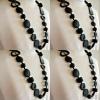 4 Resin necklace BLACK hand made stunning fashion jewellery bead NEW light