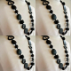4 Resin necklace BLACK hand made stunning fashion jewellery bead NEW light