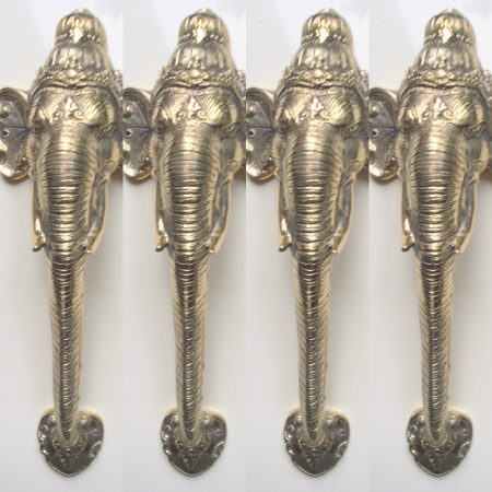 "4 large 32 cm polished handles ELEPHANT Door Pull HANDLE 13 "" long solid BRASS trunk door aged knob grab cabinet (Copy)"