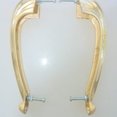 2 heavy pulls handles 16 .5 cm DOOR antique solid brass vintage DECO old replace drawer heavy polished
