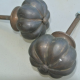 """2 small heavy 1.1/2"""" inch wide pulls handles knob GARLIC SHAPE antique style solid pure brass vintage drawer knobs 36 mm kitchen antiques"""