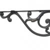 """Large 14"""" Bracket solid solid brass antique look 36 cm heavy old style vintage right angle shelf hang arm support cast victorian"""