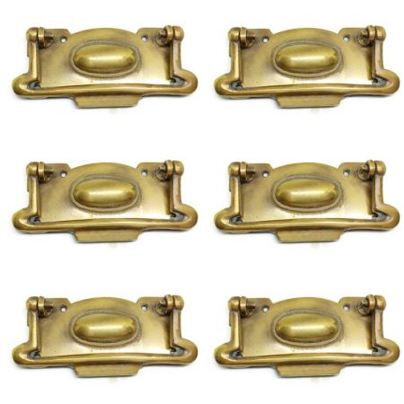 "6 large pulls drops 4.1/4 "" inches handles 11 cm watson 517 antique style bronze patina solid brass vintage old replace drawer heavy"