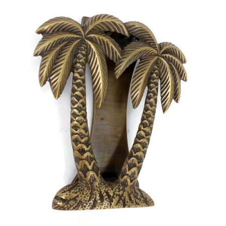 "PALM TREE cast solid 100 % BRASS hand made 15 cm DOOR KNOCKER 6"" heavy bronze patina hand made cast heavy antiquebrass"