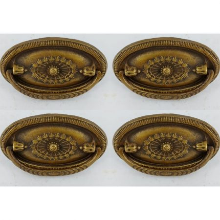 6 small pulls watsonbrass 1635 small F 8 cm cabinet antiques duchess dressing table Victorian Edwardian handles antique style bronze oxidized patina solid brass vintage old replace drawer heavy